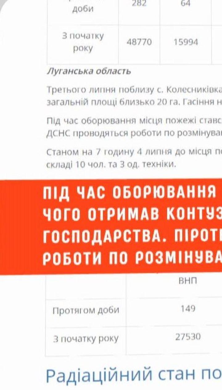 20 гектаров заминированного леса загорелись в Луганской области