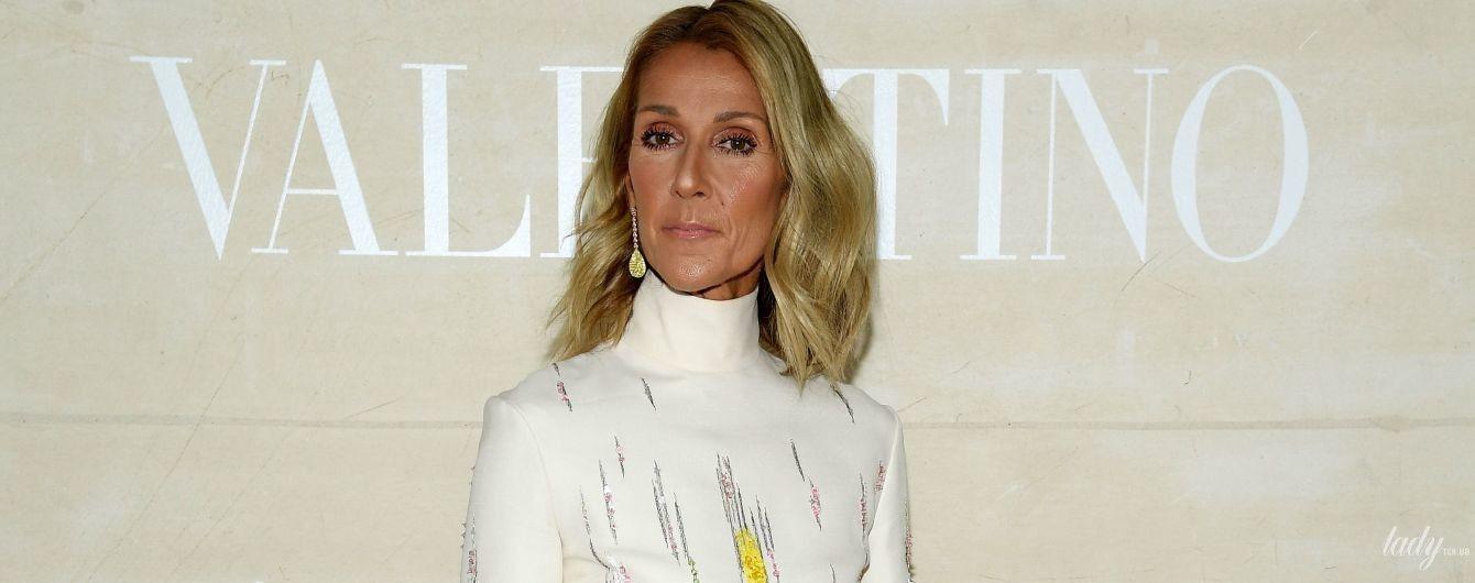 В платье с перьями за 10 тысяч долларов: Селин Дион на модном шоу в Париже