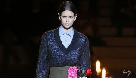 Мрачноватая, но эффектная коллекция Prada сезона осень-зима 2019-2020