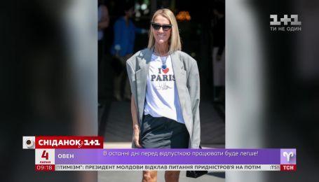 Певица Селин Дион удивила экстравагантным нарядом, прогуливаясь по Парижу