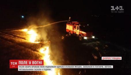 Пожежу на полях влаштували фермери у передмісті Дніпра