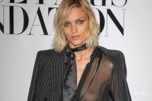 Светит грудью: известная модель пришла на парижскую вечеринку в прозрачной блузке