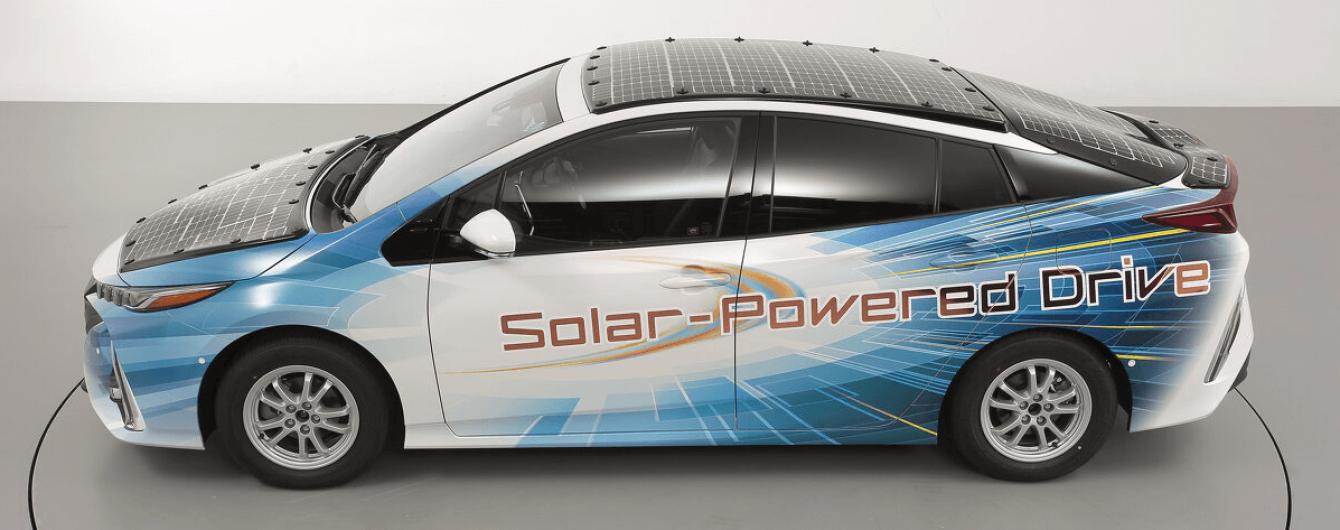 Toyota объявила о гибриде Prius на солнечных батареях