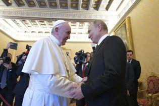 У Ватикані повідомили, що Папа Франциск і Путін розмовляли про Україну