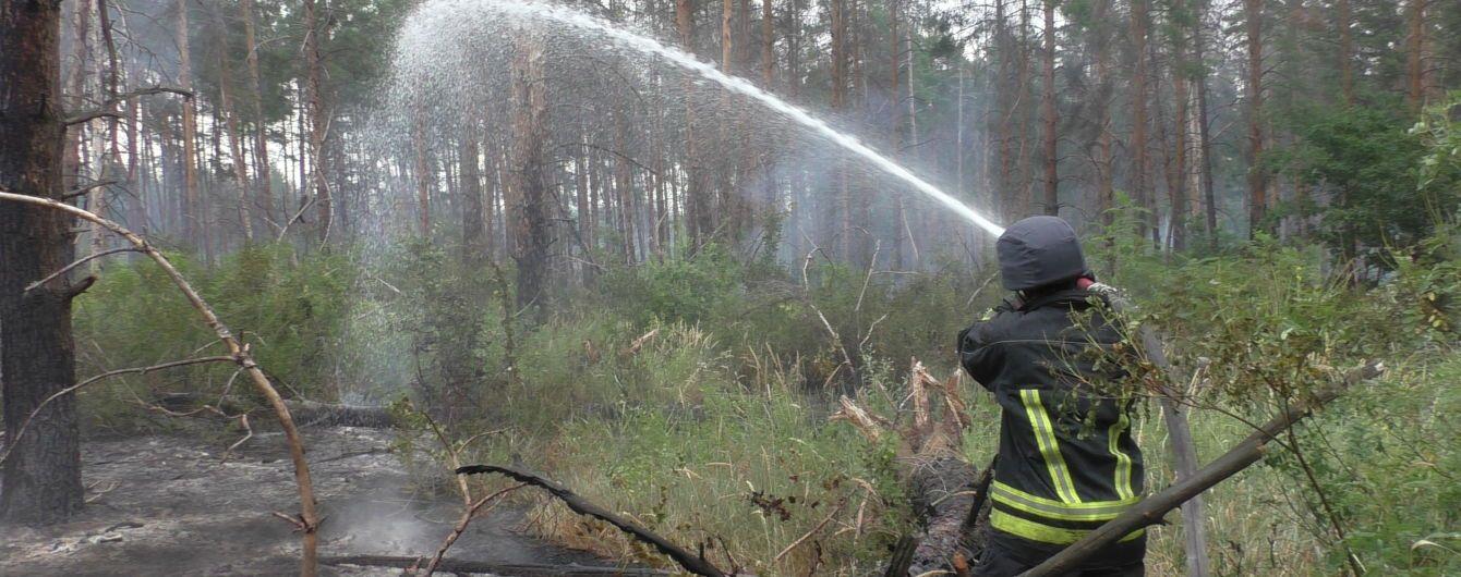 На Луганщині загасили пожежу у замінованому лісі