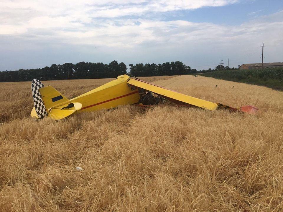 літак розбився на Полтавщині