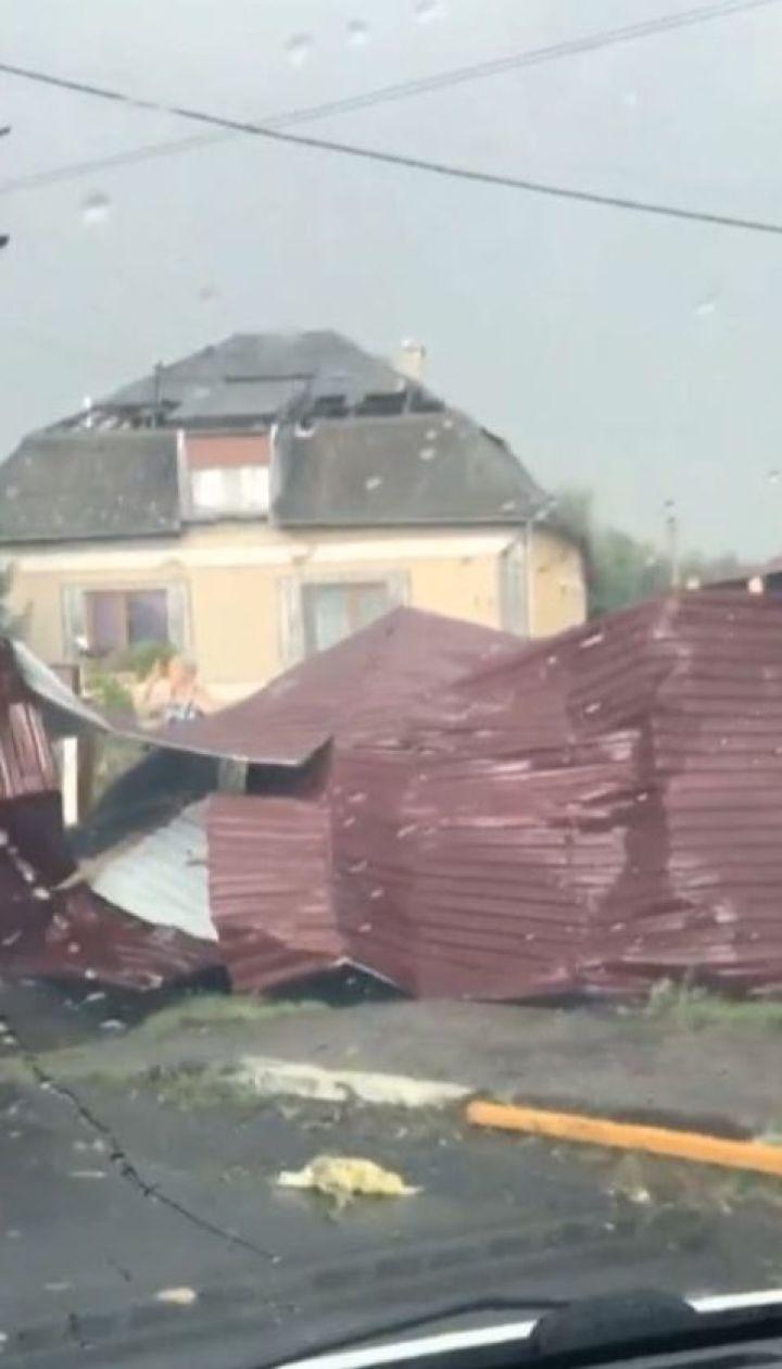 Снесенные крыши, поваленные деревья и травмированные люди: по Закарпатью пронесся ураган