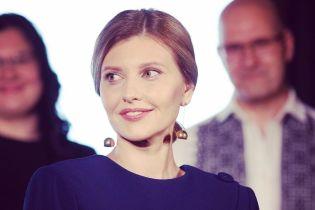 В стильном костюме от украинского дизайнера: эффектный аутфит Елены Зеленской