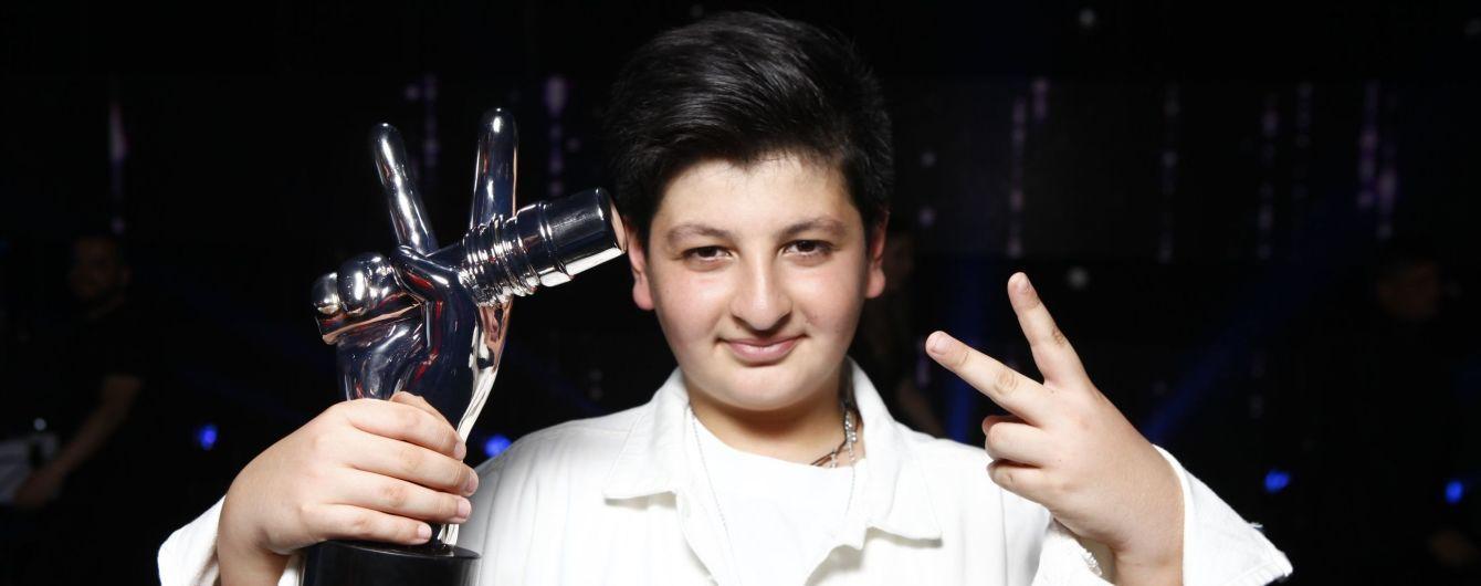 """Победитель """"Голосу. Діти-5"""" Александр Зазарашвили поделился первыми впечатлениями своего триумфа в шоу"""