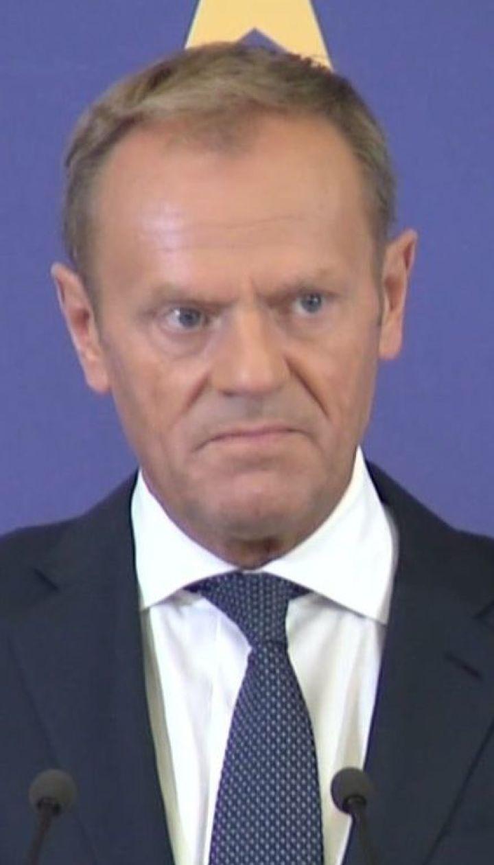Дональд Туск призвал Россию освободить всех незаконно задержанных украинцев