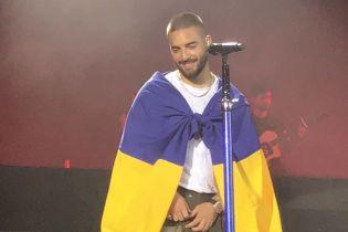 Каменских на разогреве, лазерное шоу и флаг Украины: колумбийский секс-символ Maluma выступил в Киеве