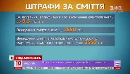 В Украине хотят усилить ответственность за мусор в неположенных местах