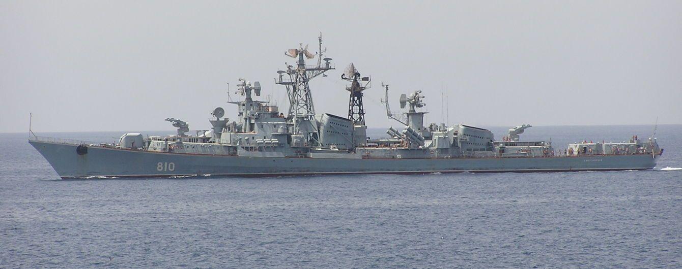 Российский военный корабль зашел в закрытую зону учений Sea Breeze 2019 в Черном море