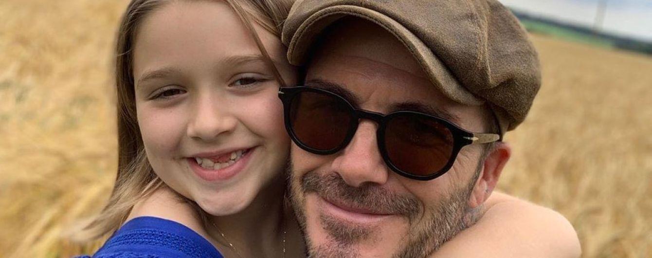 Семья Бекхэмов трогательно поздравила Харпер с 8-летием