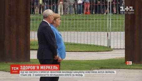 Ангеле Меркель снова стало плохо во время официальной церемонии