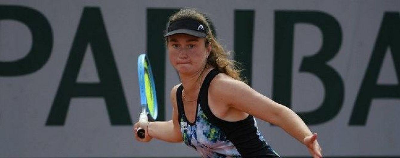 Украинская теннисистка вышла в четвертьфинал юниорского Wimbledon