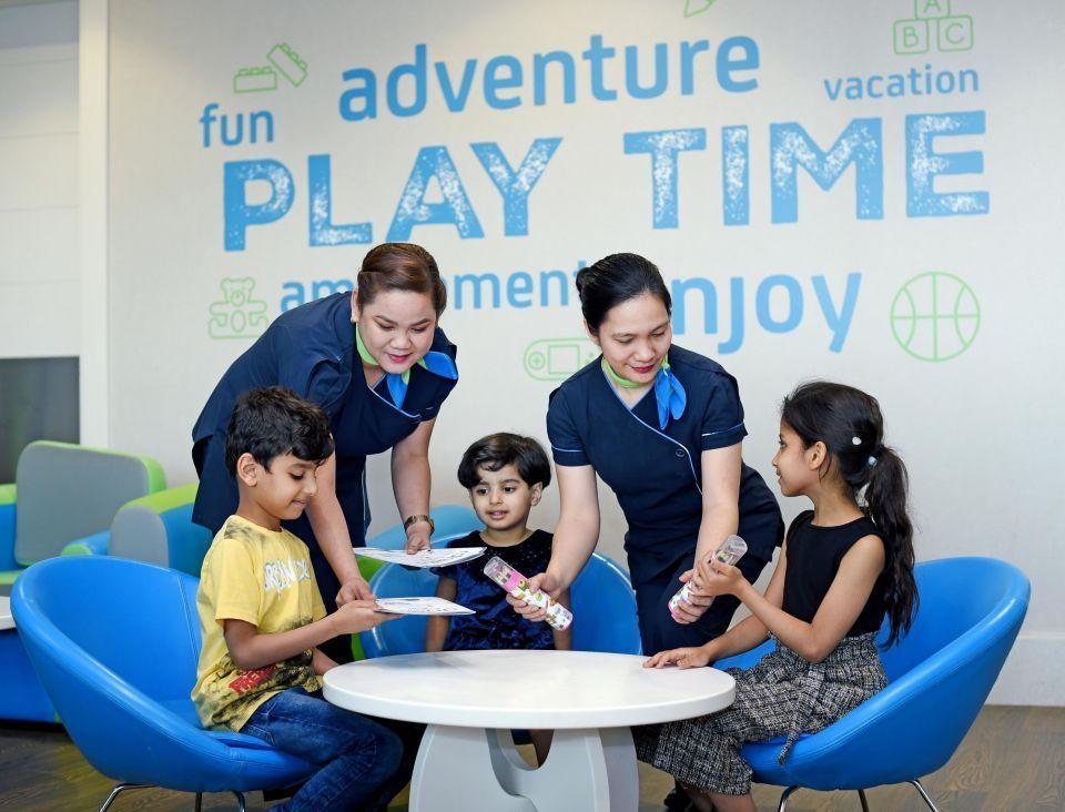 Международном аэропорту Дубая для детей