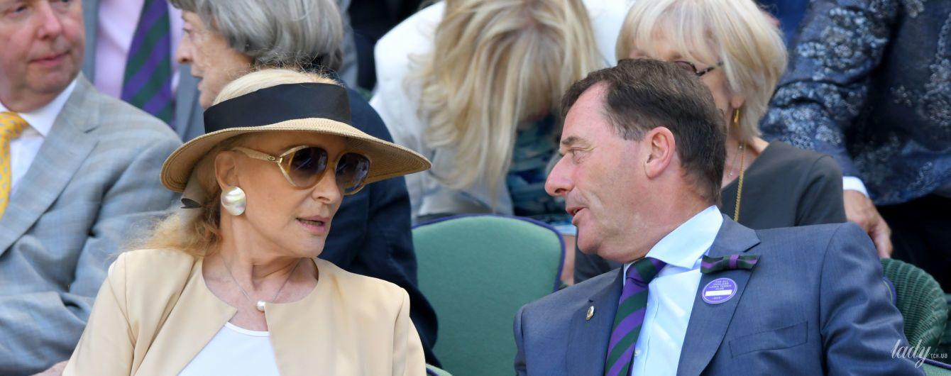 В капелюсі і ефектних сережках: 74-річна принцеса Майкл Кентська на Вімблдоні