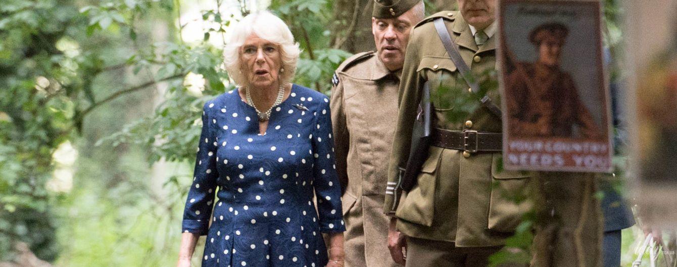 У милій гороховій сукні: герцогиня Корнуольська зіграла в теніс