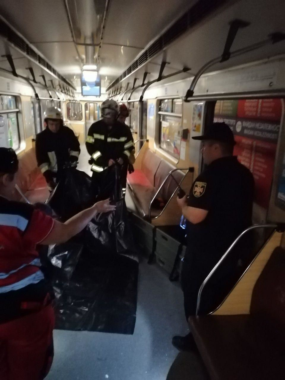 Жінка яка впала під потяг