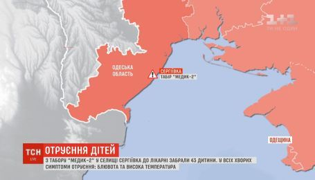 В Одесской области в детском лагере произошло массовое отравление детей