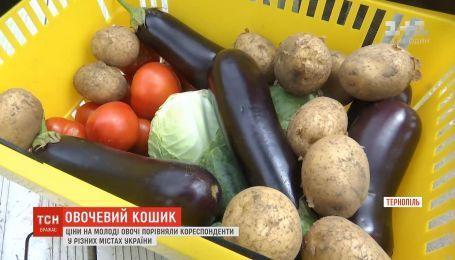 Сколько стоит овощная корзина в разных городах Украины