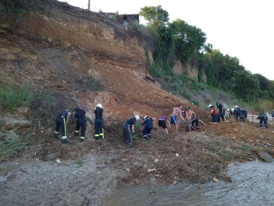В Одесі на узбережжі стався зсув ґрунту