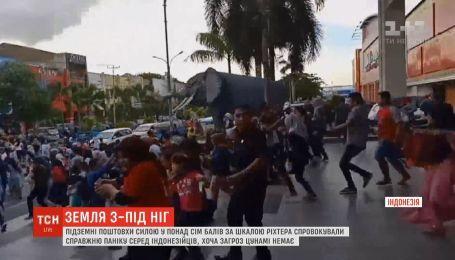 Настоящую панику спровоцировало землетрясение в Индонезии