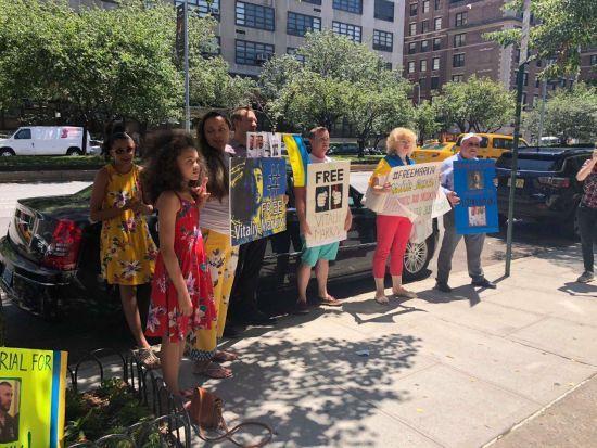 Українці пікетують консульство Італії в Нью-Йорку через ув'язнення Марківа