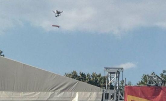 В Одесі під час агітації за кандидата на сцену з дрона скинули фалоімітатор