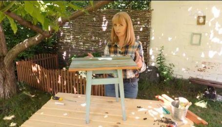 Делаем кофейный столик из старой табуретки - Уютно дома