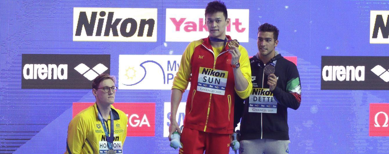 Австралійський плавець відмовився розділити п'єдестал Чемпіонату світу з китайцем, який оскандалився з допінг-тестами