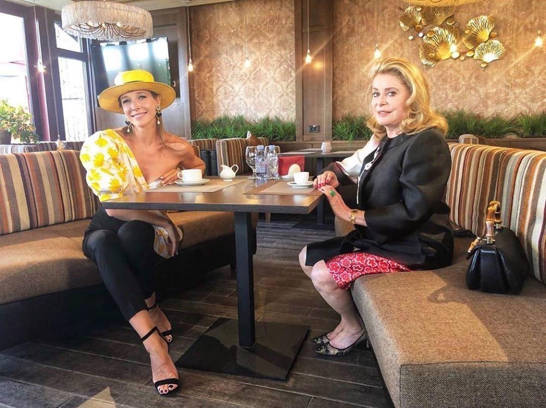 Катя Осадчая и Катрин Денев