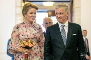 В макси-платье и красивых серьгах: королева Матильда на торжественном приеме