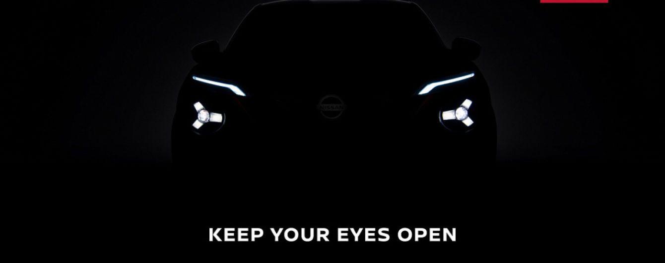Внешность Nissan Juke приоткрыли на новом тизере