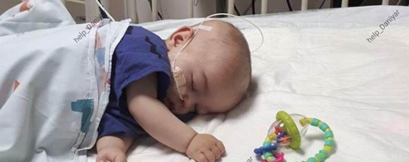 Крихітну голівку 8-місячного Даніяра атакувала злоякісна пухлина
