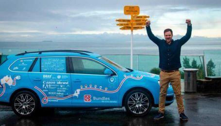 100 тисяч км і 34 країни. Нідерландець здійснив найдовшу поїздку на електрокарі