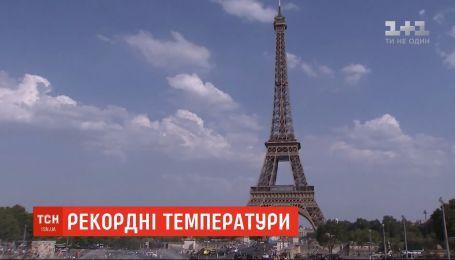 Рекордные +42,5 градуса по Цельсию зафиксировали в Париже