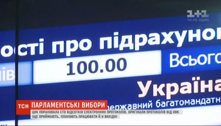 За п'ять днів після виборів ЦВК порахувала 100% електронних протоколів