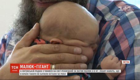 В Литве похвастались самым большим новорожденным ребенком в стране