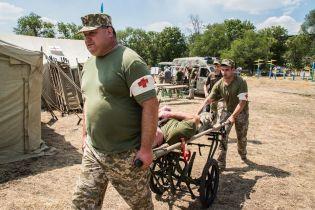 На Донбассе прошли учения военных медиков