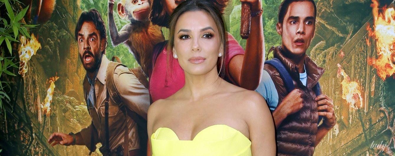 Стройная и в желтом платье: Ева Лонгория на премьере фильма