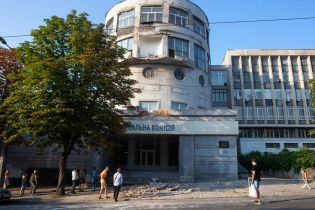 В Днепре обвалился фасад академии строительства и архитектуры