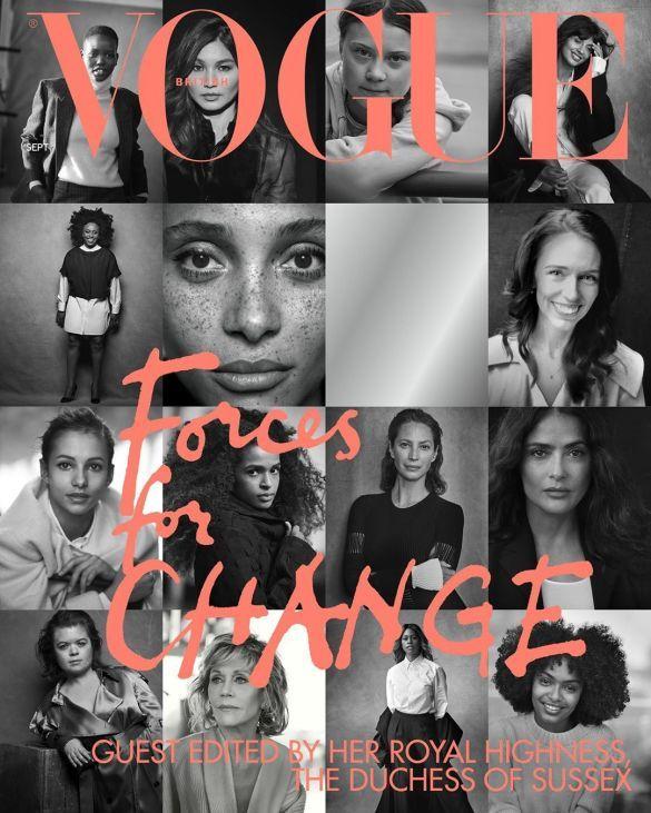 Обложка британского Vogue