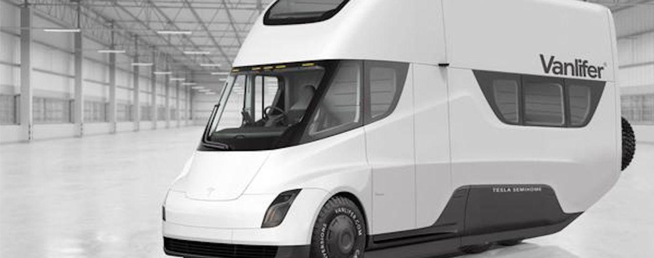 У Мережі показали автодім на базі Tesla Semi