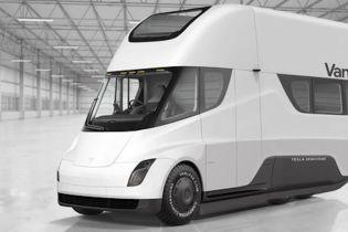 В Сети показали автодом на базе Tesla Semi