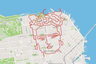 Портрет Фриды Кало и Бэтмен: в США бегун рисует фигуры пробежками на карте