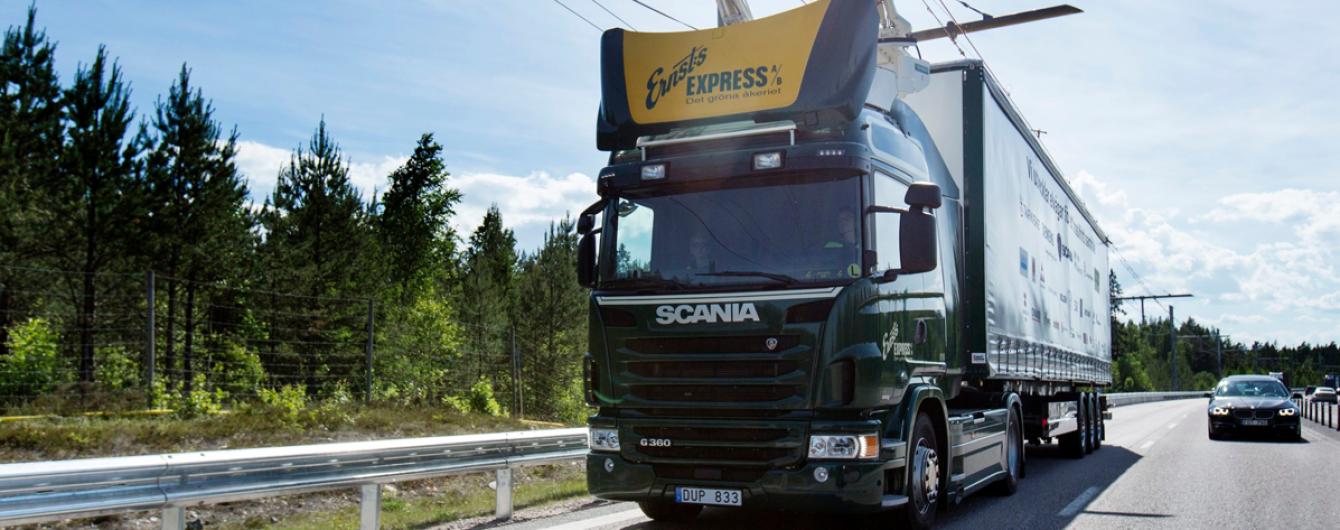 """В Германии фуры превращают в грузовые """"троллейбусы"""". Видео"""