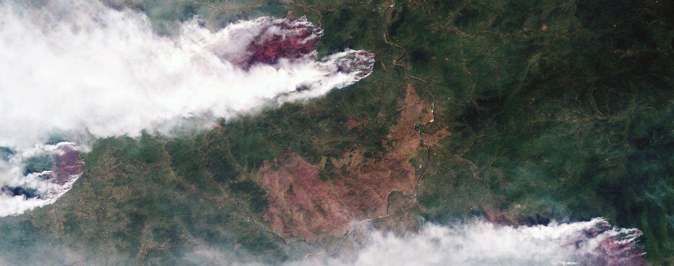 Дым от пожаров в российской Сибири укрыл Монголию