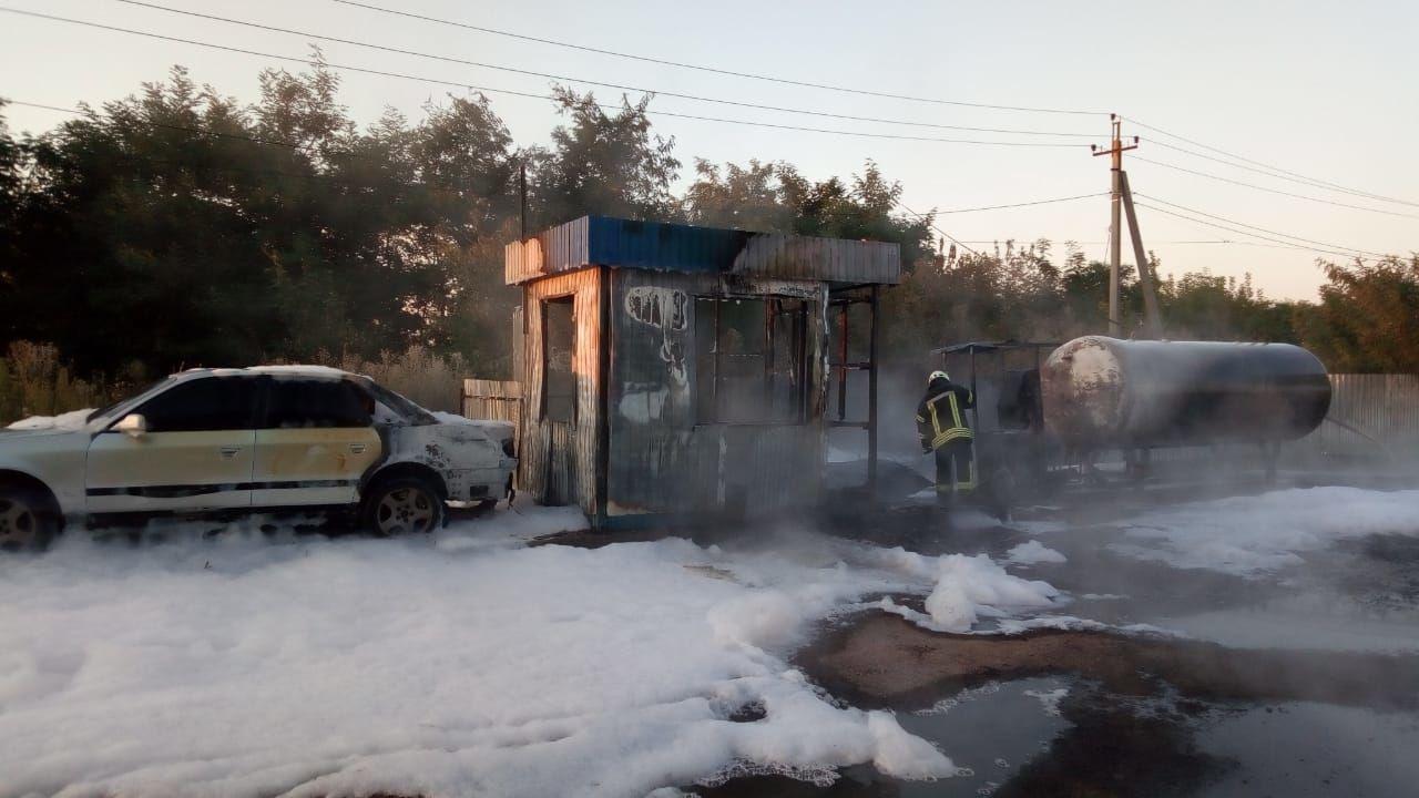 Пожежа на АЗС в Київщині